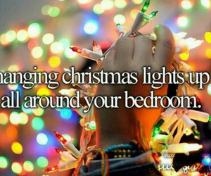 christmas, lights, and bedroom image