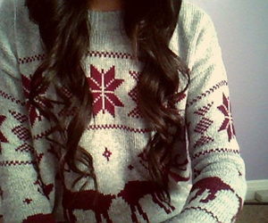 winter, sweater, and hair image