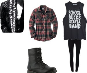 band, boots, and school image