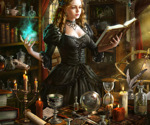 fantasy, witch, and magic image