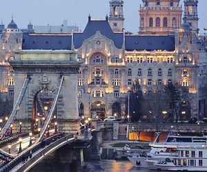 city, travel, and budapest image