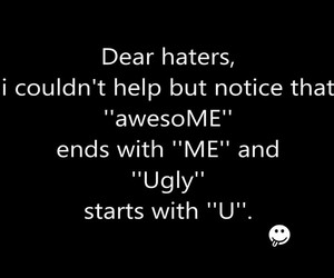 haters, awesome, and ugly image