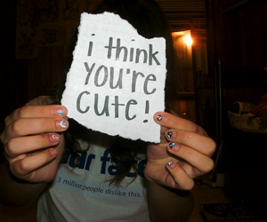 cute and text image