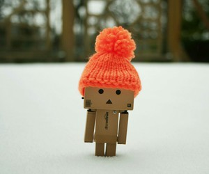 danbo, snow, and winter image