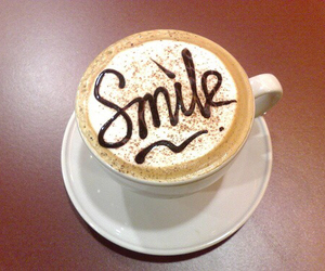 smile and coffee image