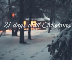 christmas, cottage, and countdown image