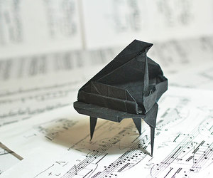 piano, music, and origami image