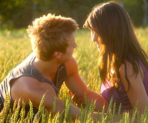 couple, field, and romantic image