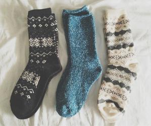 socks, winter, and christmas image