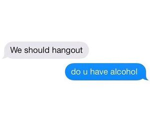 hangout, funny, and alcohol image