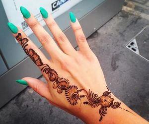 nails, fashion, and henna image