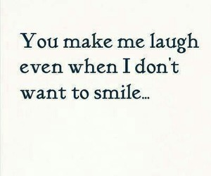 smile, laugh, and quote image