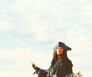 jack sparrow, johnny depp, and captain jack sparrow image