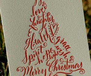 card, christmas, and greetings image