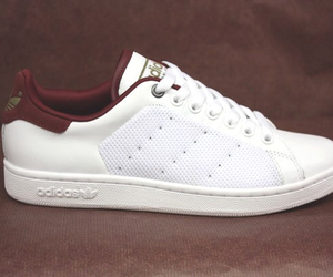 adidas, bordeaux, and stan smith image
