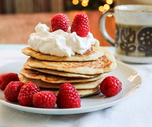 pancakes, raspberry, and food image