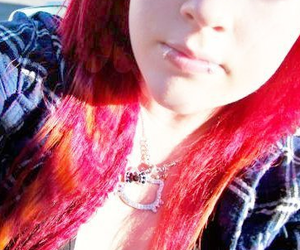 colored, hair, and orange image