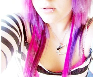 colored, hair, and purple image