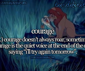 courage, motivation, and lionking image