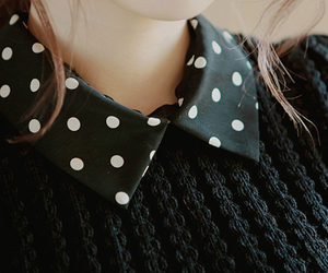 fashion, sweater, and collar image