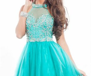 beaded and short prom dress image