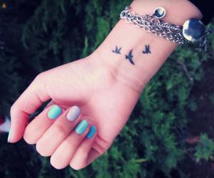 tattoo, bird, and nails image