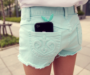 fashion, iphone, and shorts image
