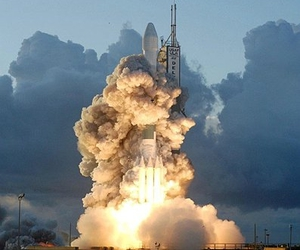 cloud, launch, and rocket image
