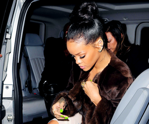 brown, candids, and rihanna image