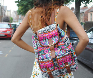bag, backpack, and aztec image