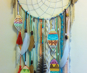 dreamcatcher, color, and feather image