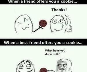 funny, friends, and cookie image