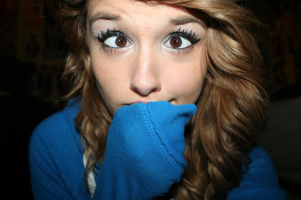 Teen brown eye