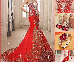 dresses, shoes, and red image