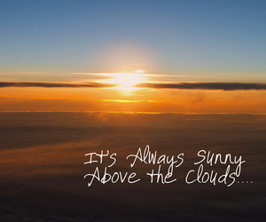 quotes, sky, and sunset image