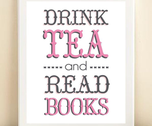 drink, read, and tea image