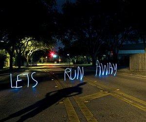 light, run, and street image