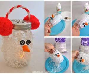 diy, christmas, and snowman image