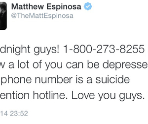 suicide, twitter, and cameron dallas image