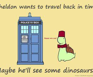 dinosaur, doctor who, and sheldon image