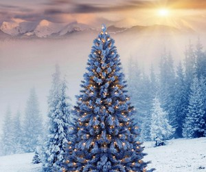 christmas, sun, and clouds image