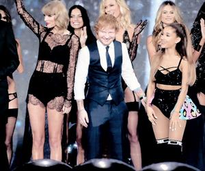 ariana grande, Taylor Swift, and ed sheeran image