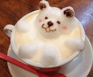bear, cute, and coffee image