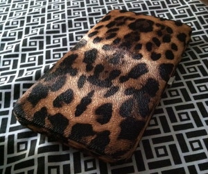 leopard print, print, and wallet image
