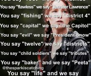 the hunger games, katniss, and thg image
