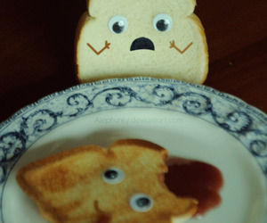 bread, food, and funny image
