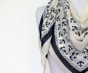 anchor, cream, and scarf image