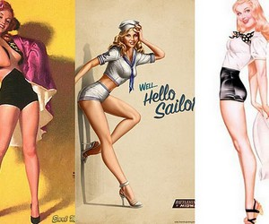 bitch, pin-up, and vintage image