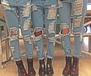 jeans, grunge, and boots image