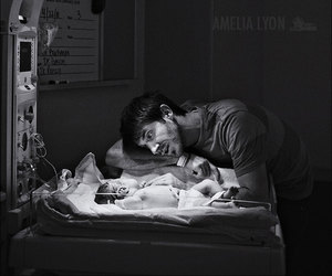 adorable, birth, and dad image